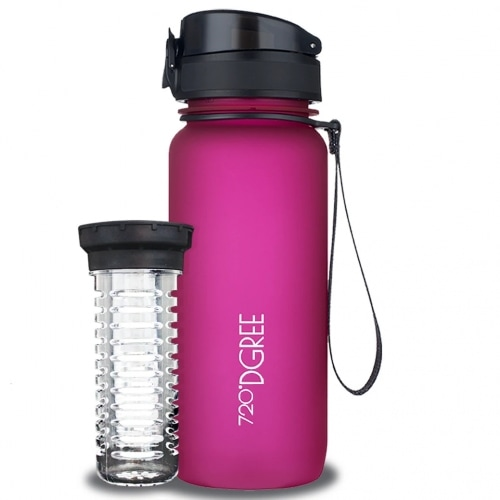 720DGREE Waterfles UberBottle Fuchsia Pink 650 ml
