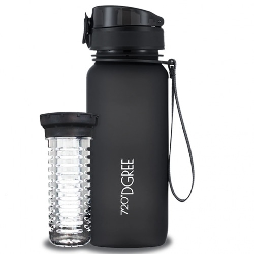 720DGREE Waterfles UberBottle Onyx Black 650 ml