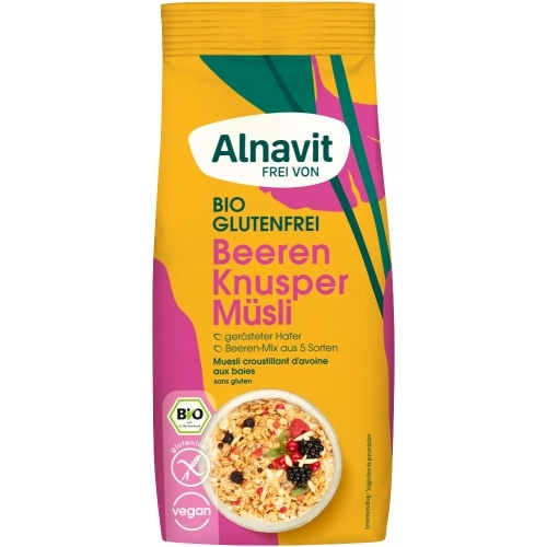 Alnavit Granola Bessen Glutenvrij Bio 300 g