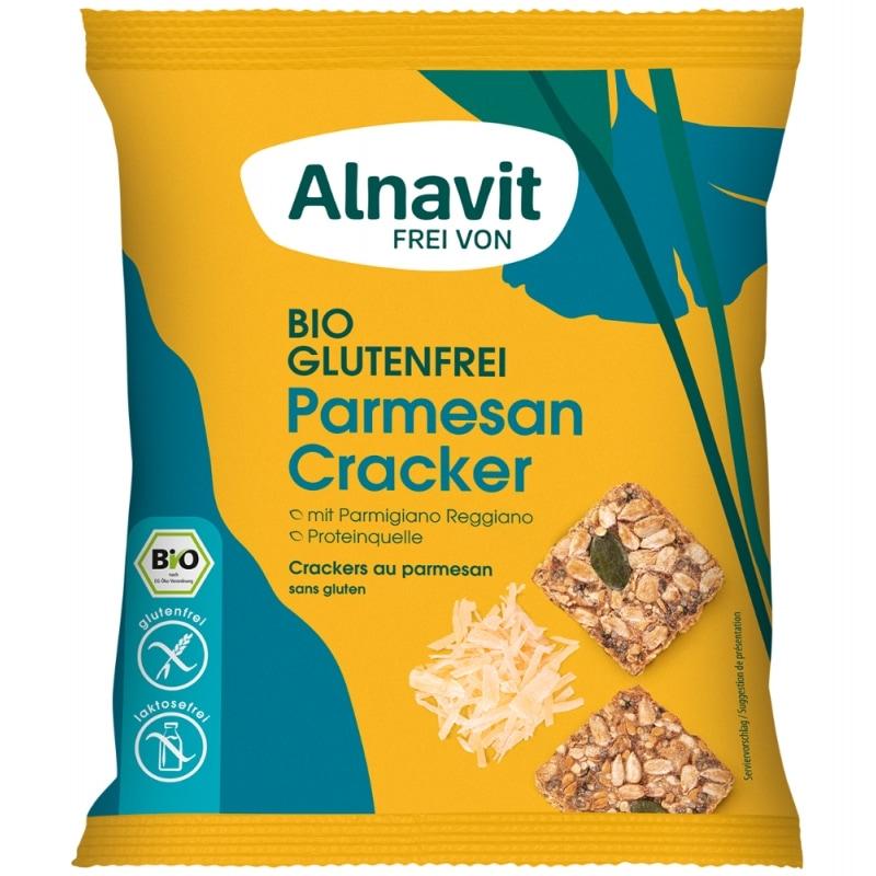 Alnavit Parmezaanse Kaas Crackers Glutenvrij Bio 75 g