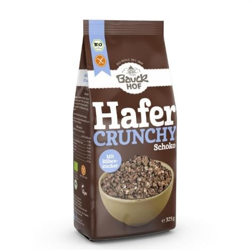 Bauckhof Crunchy Havermuesli Cacao Glutenvrij Bio 325 g
