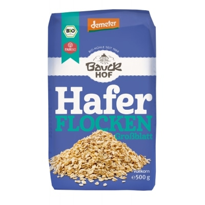 Bauckhof Havervlokken Grof Demeter / Bio / Fair 500 g