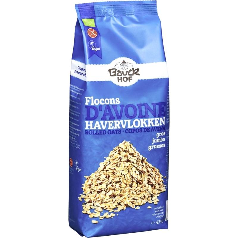 Bauckhof Havervlokken Grof Glutenvrij Bio 475 g