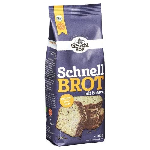 Bauckhof Rijst Broodmix Zaden Volkoren Bio 500 g