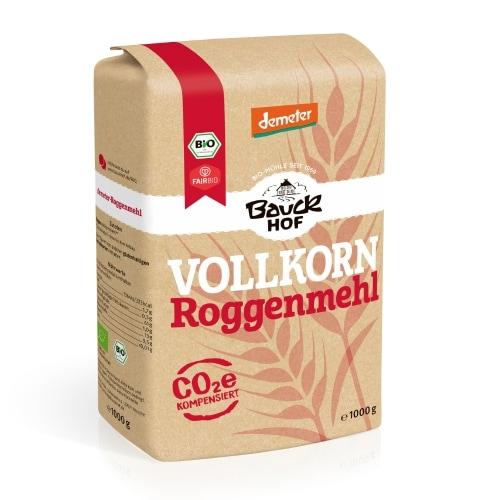 Bauckhof Roggemeel Volkoren Demeter / Bio / Fair 1 kg
