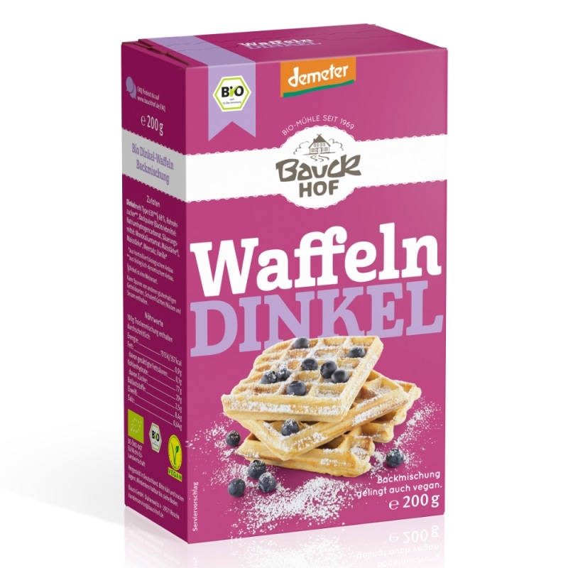 Bauckhof Spelt Wafel Bakmix Demeter / Bio 200 g