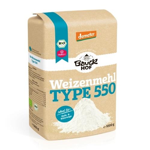 Bauckhof Tarwebloem Type 550 Demeter / Bio / Fair 1 kg