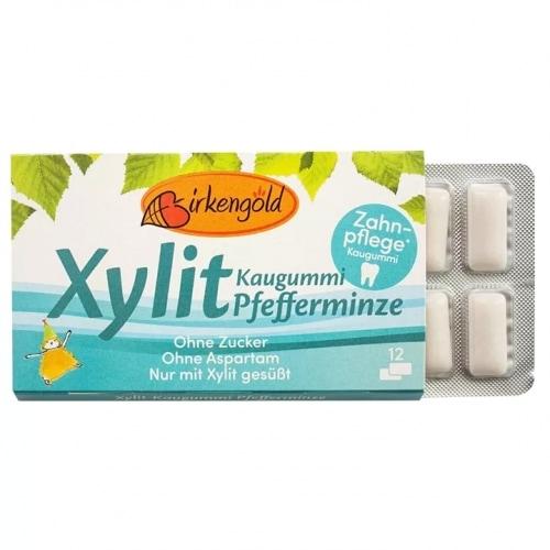 Birkengold Peppermint Kauwgom 17 g
