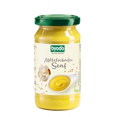 Byodo Mosterd Middelscherp Bio 200 ml