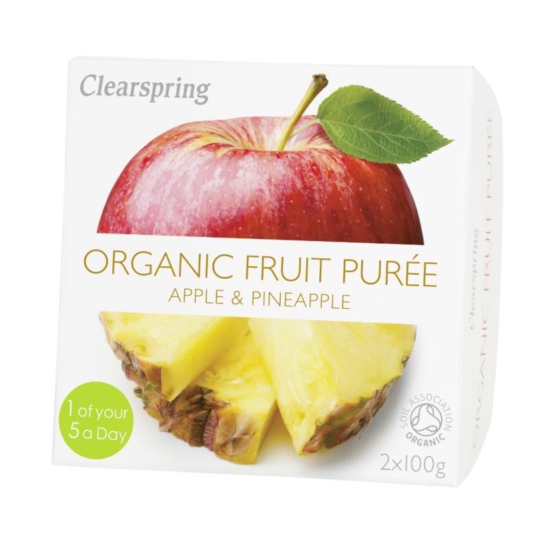 Clearspring Appel-Ananaspuree Bio 2 x 100 g