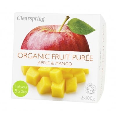 Clearspring Appel-Mangopuree Bio 2 x 100 g