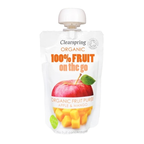 Clearspring Appel-Mangopuree On The Go Bio 120 g