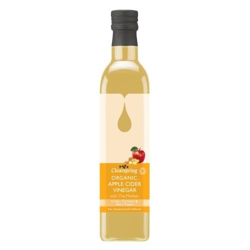 Clearspring Appelazijn Gember-Kurkuma Bio 500 ml