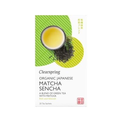 Clearspring Groene Matcha Sencha Thee Bio 20 x 1,8 g