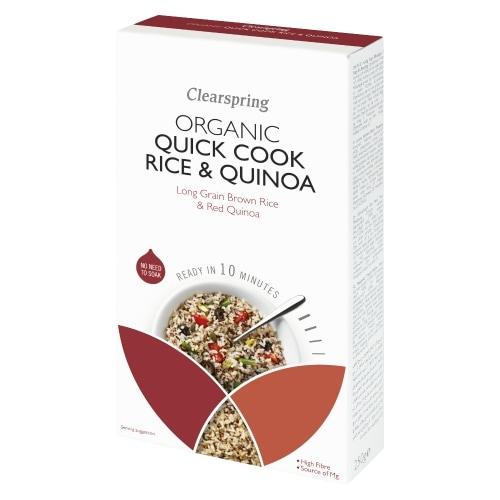 Clearspring Lange Rijst Volkoren Quinoa Snelkook Bio 250 g