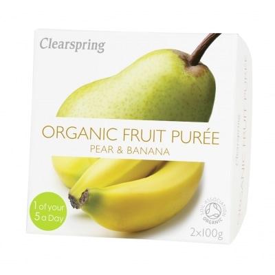 Clearspring Peer-Banaanpuree Bio 2 x 100 g