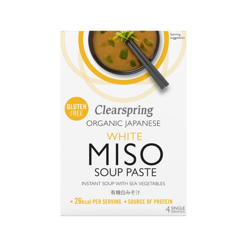 Clearspring Witte Miso Soeppasta Instant Bio 4 x 15 g