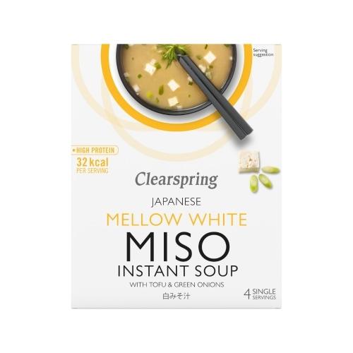 Clearspring Witte Miso Soeppoeder Tofu 4 x 10 g