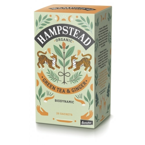 Hampstead Tea Groene Thee Gember Demeter / Bio 20 x 2 g