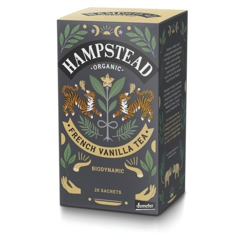 Hampstead Tea Zwarte Thee Vanille Demeter / Bio 20 x 1,5 g