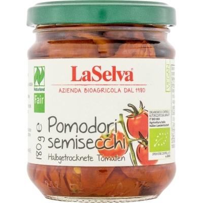 LaSelva Halfgedroogde Tomaten Olijfolie Naturland / Bio / Fair 180 g