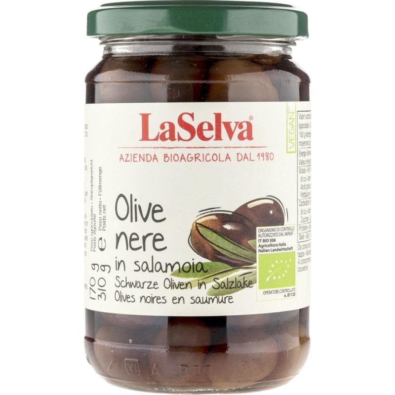 LaSelva Zwarte Olijven Bio 310 g