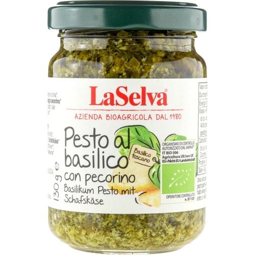 LaSelva Pesto Al Basilico Pecorino Bio 130 g