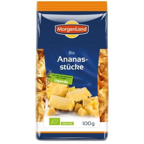 MorgenLand Ananasstukken Gedroogd Bio 100 g