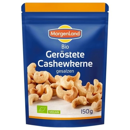 MorgenLand Cashewnoten Geroosterd Gezouten Bio 150 g