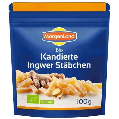 MorgenLand Gekonfijte Gemberstukjes Bio 100 g