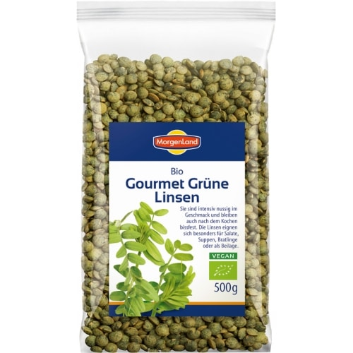 MorgenLand Groene Linzen Gourmet Gedroogd Bio 500 g