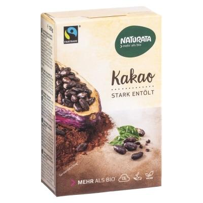 Naturata Cacaopoeder Sterk Ontvet Bio / Fair 125 g