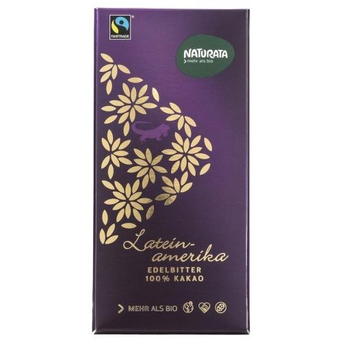 Naturata Pure Chocoladetablet Latijns Amerika 100% Bio / Fair 80 g