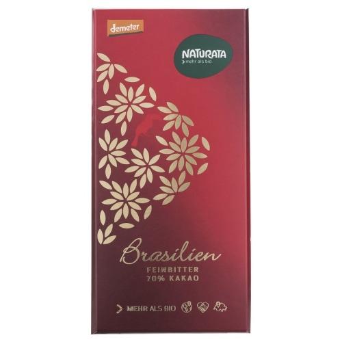 Naturata Pure Chocoladetablet Brazilië 70% Demeter / Bio 80 g