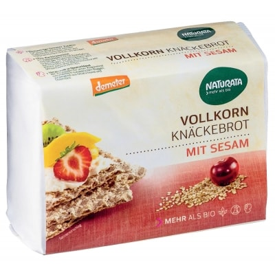 Naturata Rogge Knäckebröd Volkoren Sesam Demeter / Bio 250 g