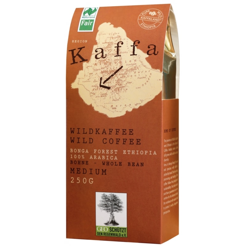 Kaffa Medium Koffiebonen Naturland / Bio / Fair 250 g