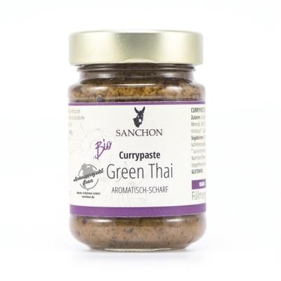Sanchon Groene Thaise Currypasta Bio 190 g