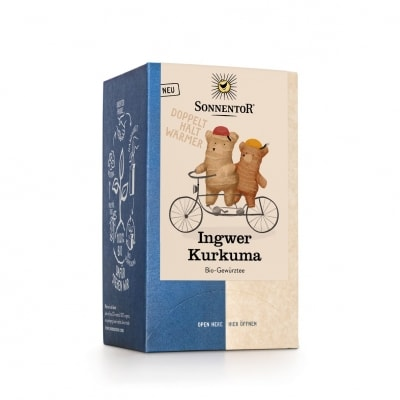 Sonnentor Gember-Kurkuma Kruidenthee Bio 18 x 1,8 g