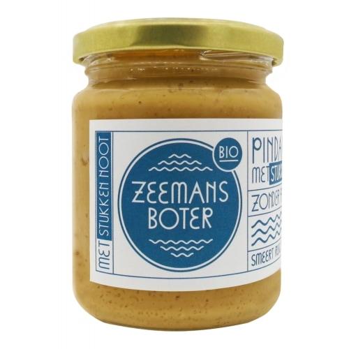 Zeemansboter Crunchy Pindakaas Bio 250 g