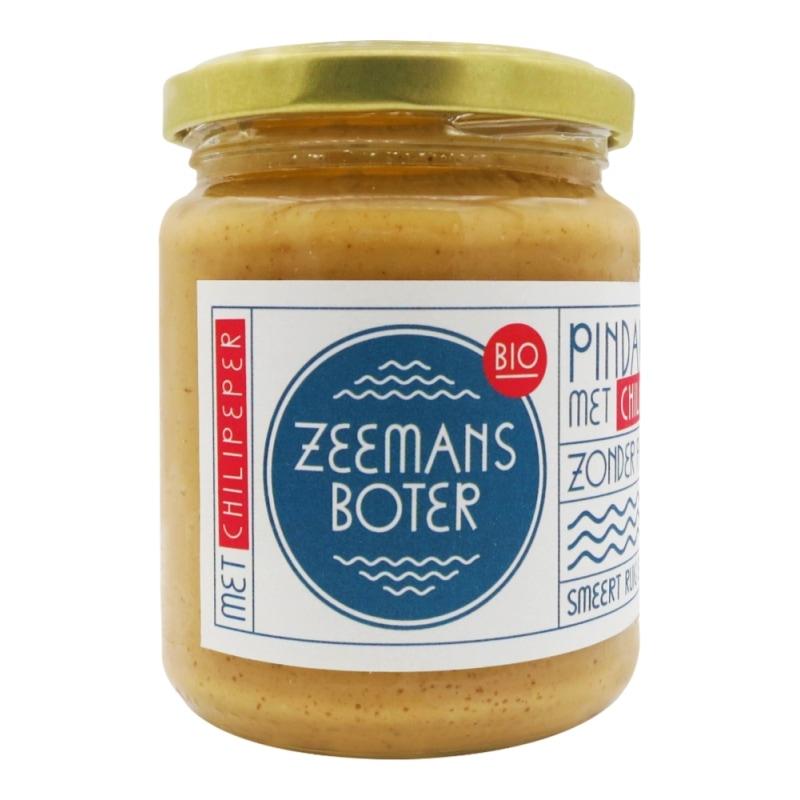 Zeemansboter Pindakaas Chili Bio 250 g