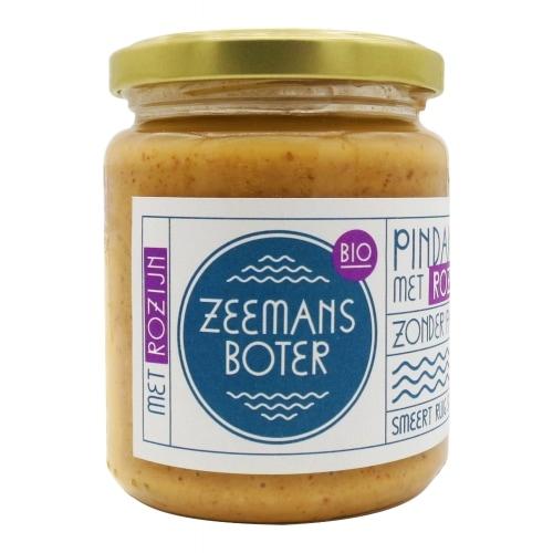 Zeemansboter Pindakaas Rozijn Bio 250 g